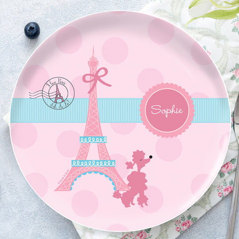 Ohh La La Paris Personalized Kids Plates