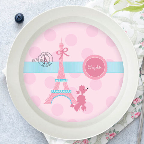 Ohh La La Paris Personalized Kids Bowl