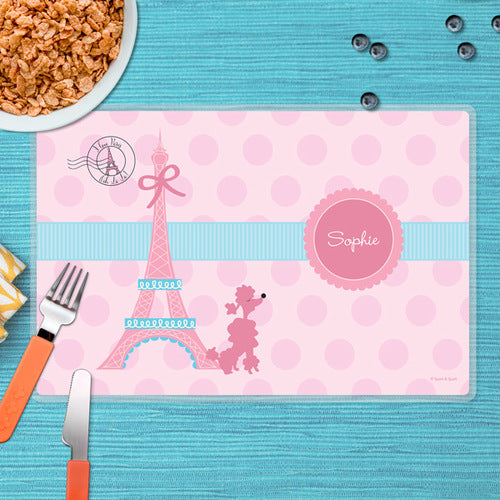 Ooh La La Paris Personalized Kids Placemat - Give Wink