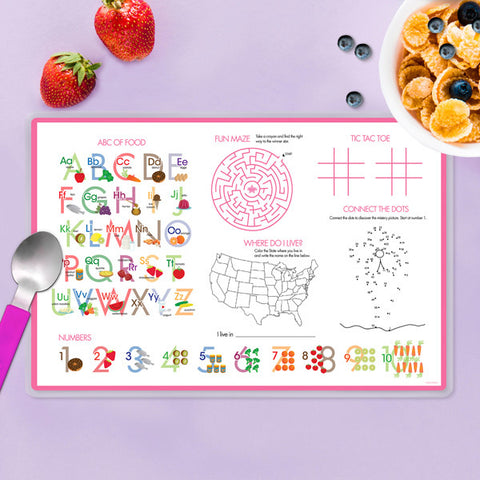 Hot Air Balloon Personalized Kids Placemat