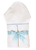 Hooded Towel Pique Blue - 3 Marthas - Miami Baby Store
