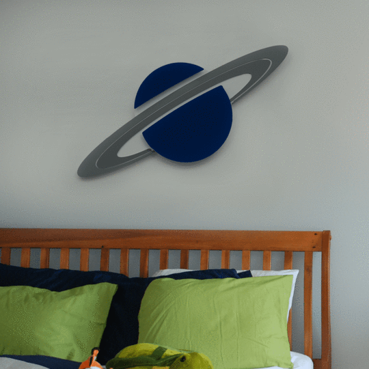 Saturn Wall Art - Give Wink