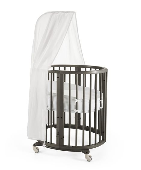 Stokke Sleepi Mini Crib. Give Wink Miami Baby Store. Baby Furniture. Hazy Grey