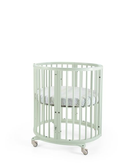 Stokke Sleepi Mini Crib. Give Wink Miami Baby Store. Baby Furniture. Mint Green