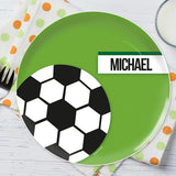 Soccer Fan Personalized Kids Plates - Give Wink