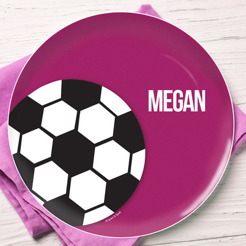 Soccer Fan Personalized Kids Plates
