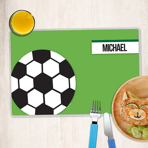 Soccer Fan Personalized Kids Placemat