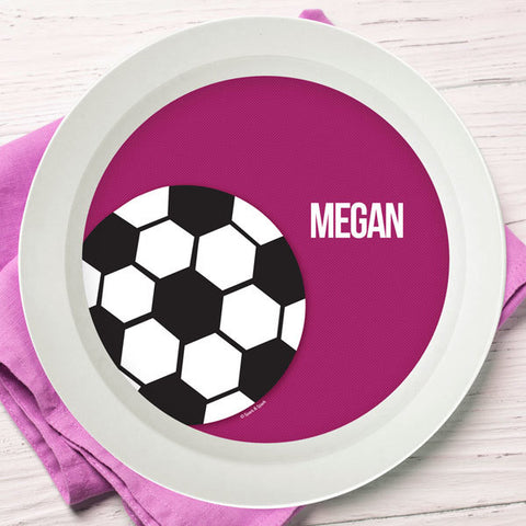 Soccer Fan Personalized Kids Bowl