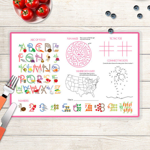 Spring Blooms Personalized Kids Placemat