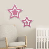 Stars (Pair) Wall Art - Give Wink