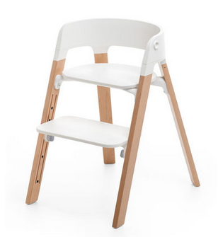 Stokke Steps High Chair. Gear Baby Give Wink Miami Baby Store - White / Natural