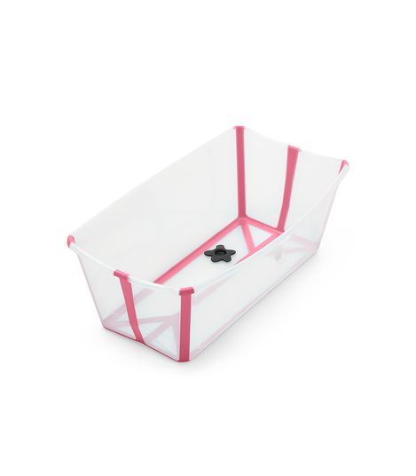 Stokke Flexi Bath - Give Wink Miami Baby Store. transparent pink