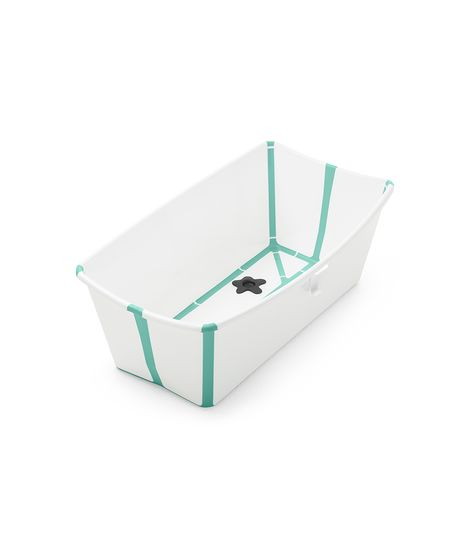 Stokke Flexi Bath - Give Wink Miami Baby Store. white aqua