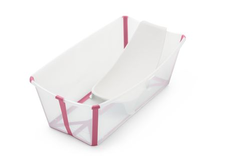 Stokke Bundle Flexi Bath - Give Wink Miami Baby Store. transparent pink