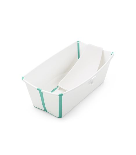 Stokke Bundle Flexi Bath - Give Wink Miami Baby Store. white aqua