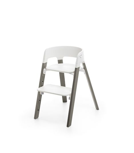Stokke Steps High Chair. Gear Baby Give Wink Miami Baby Store. White/Hazy Grey