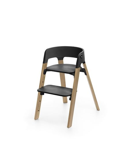 Stokke Steps High Chair. Gear Baby Give Wink Miami Baby Store. Black/Oak Natural