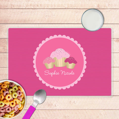 Sweet Cupcakes Personalized Kids Placemat