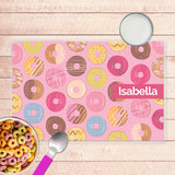 Sweet Donuts Personalized Kids Placemat - Give Wink