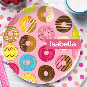 Sweet Donuts Personalized Kids Plates - Give Wink