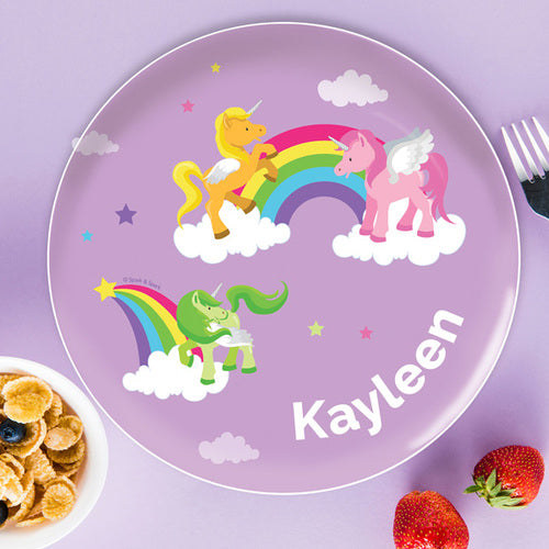 Spark and Spark. Sweet Unicorns Personalized Kids Plates. Miami Baby Store