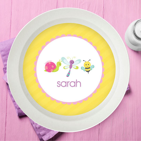 Three Sweet Little Bugs Personalized Kids Bowl - Give Wink