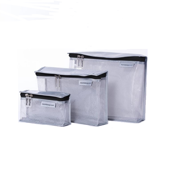 Toiletry Cubes S/3 - Black