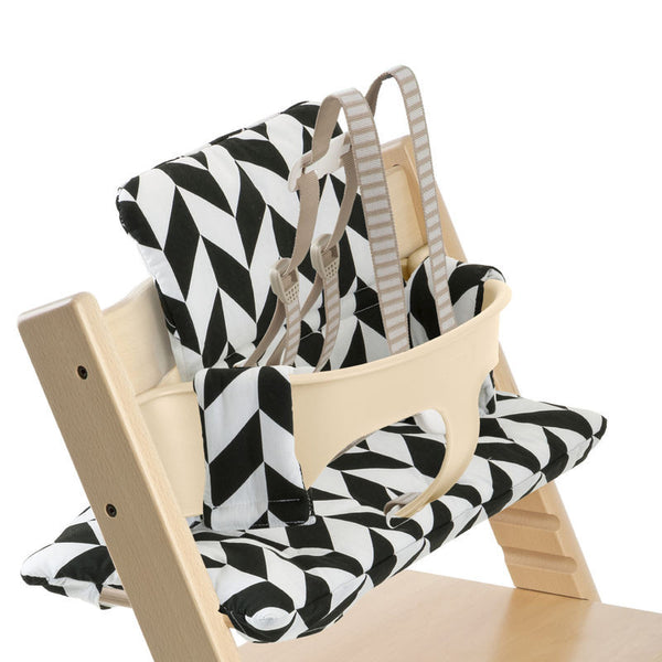 Tripp Trapp Cushion - Stokke High - Give Wink Miami Baby Store - Black Chevron