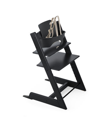 Stokke Tripp Trapp Bundle High Chair. Give Wink Miami Baby Store. Black