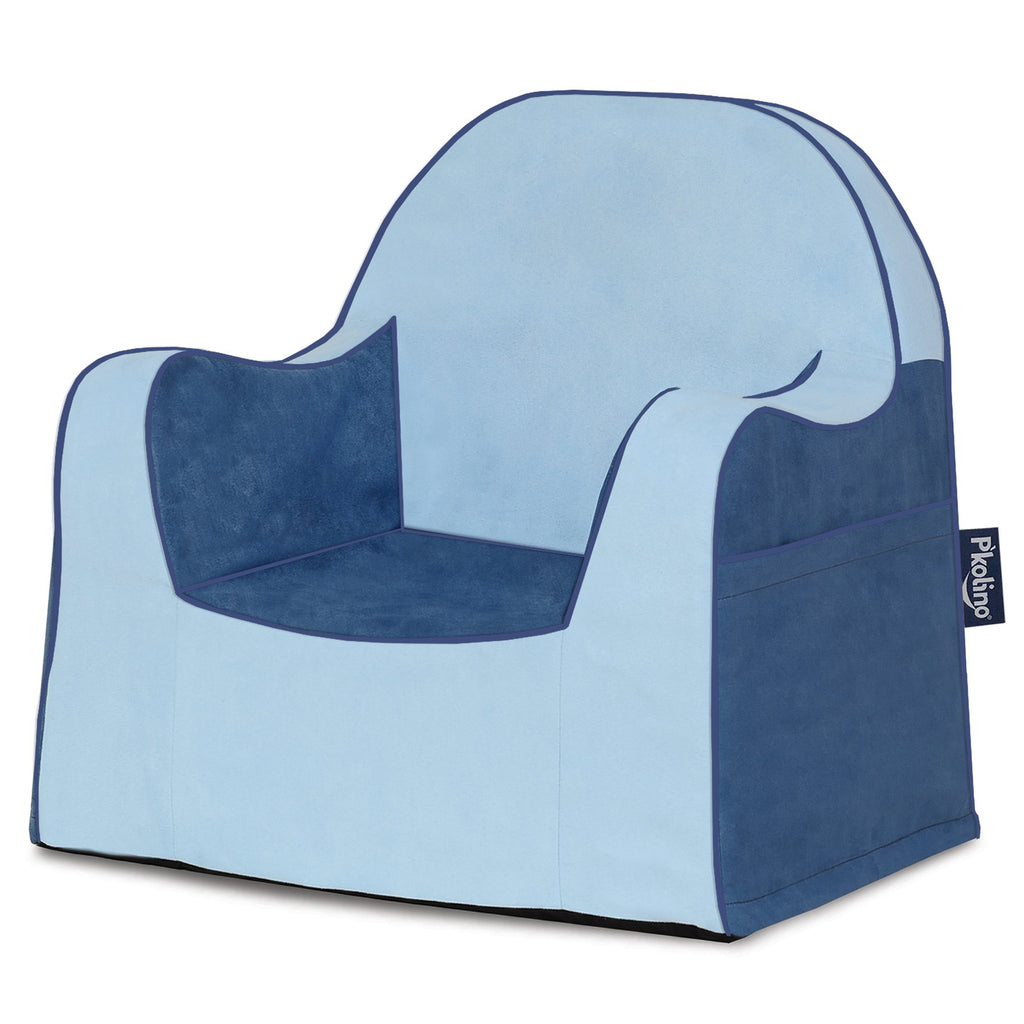 Two Tone Blue Little Reader Chair - Give Wink