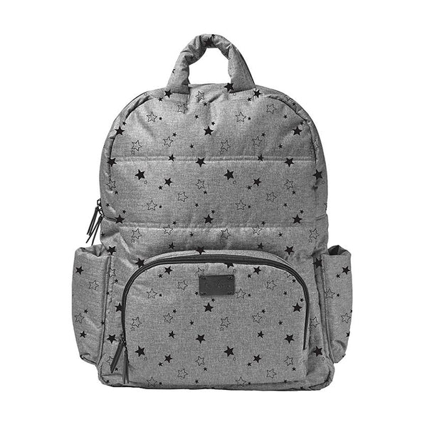 Heather Grey Stars Backpack - Give Wink