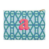 Bamboo Flat Zippered Clutch. Miami Baby Store. Blue