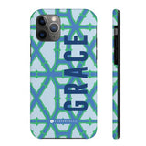 Clairebella Bamboo iPhone Tough Case 11. Miami Baby Store. Blue