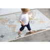 Washable Rug Vintage Map - Give Wink