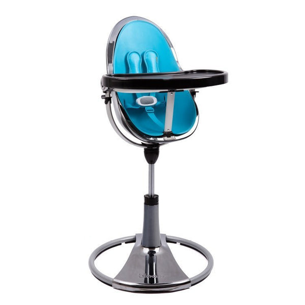 Fresco Chrome - Bloom Baby High Chair Miami Baby Store - Mercury / Bermuda Blue