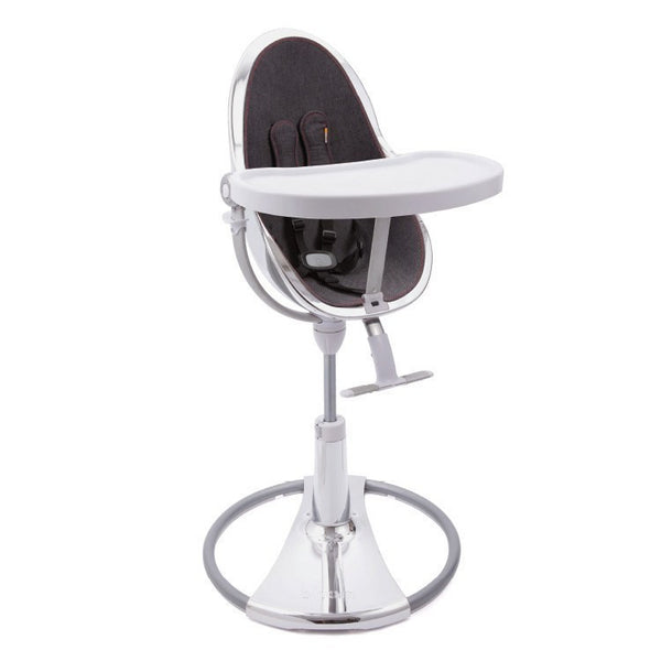 Fresco Chrome - Bloom Baby High Chair Miami Baby Store - Silver / Downtown