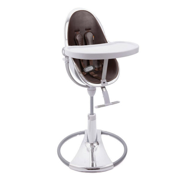 Fresco Chrome - Bloom Baby High Chair Miami Baby Store - Silver / Brown