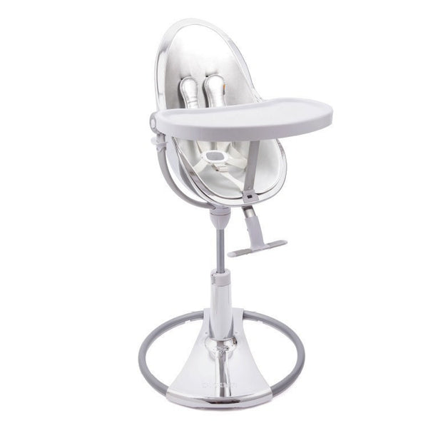 Fresco Chrome - Bloom Baby High Chair Miami Baby Store - Silver / Lunar Silver