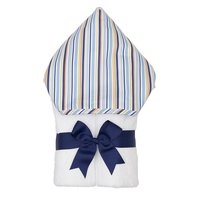 Blue Stripe Hooded Towel - Give Wink