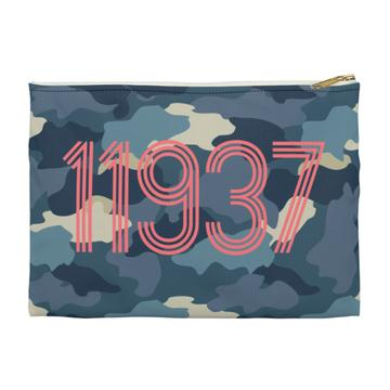 Camo Flat Zippered Clutch. Small. Miami Baby Store. Blue
