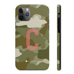 Clairebella Camo iPhone Tough Case 11 Pro Max. Miami Baby Store. Green
