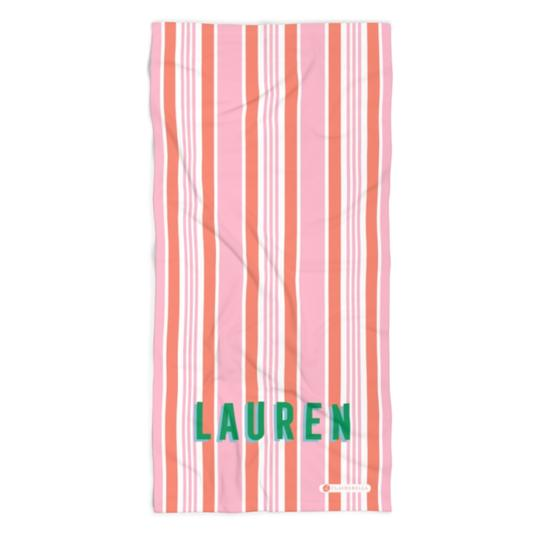Capri Stripe Beach Towel - Give Wink