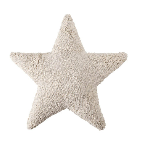 Plush Star Pillow Beige