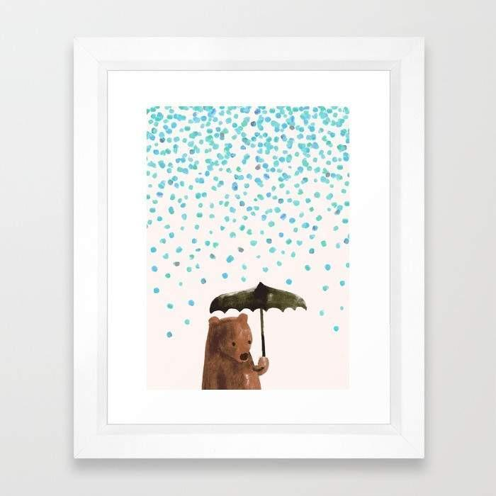 Framed Art - Rain, Rain Go Away - Give Wink