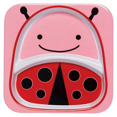 Zoo Divided Plate - Ladybug