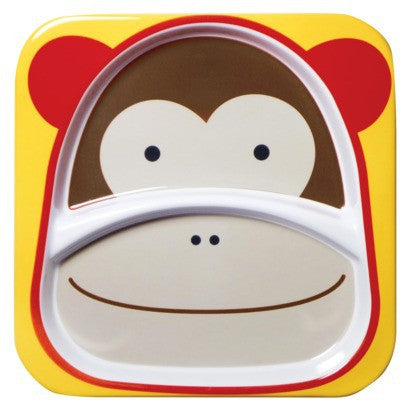 Zoo Divided Plate - Monkey - Give Wink