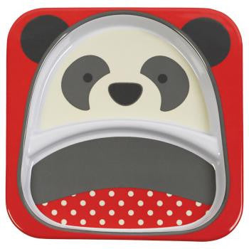Zoo Divided Plate - Panda - Give Wink
