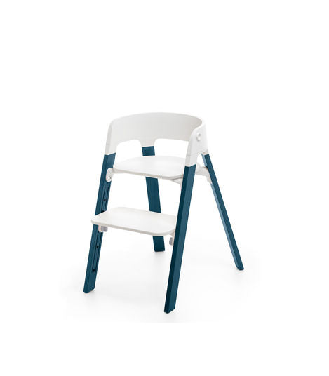 Stokke Steps High Chair. Gear Baby Give Wink Miami Baby Store. White/Midnight Blue
