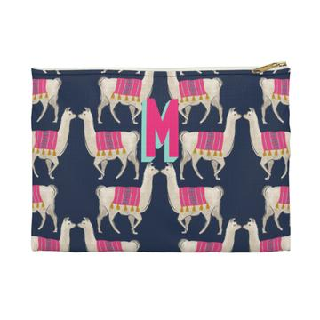 Llama Flat Zippered Clutch - Small - Give Wink