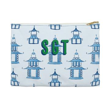 Pagoda Flat Zippered Clutch. Small. Miami Baby Store. Pagoda